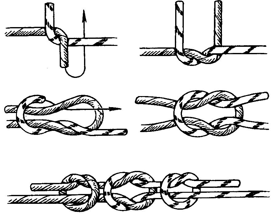 Как вязать верёвочку